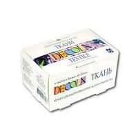 Набор акриловых красок по ткани DECOLA 6 цветов 20 мл, ЗХК