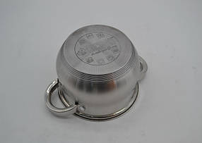 Набор кастрюль Benson нержавеющих BN-205-6 пр- 2.1 , 2.9 , 3.9 лтр. индукционные, фото 2