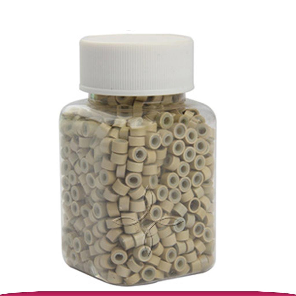 Микрокольца для наращивания силикон блондин 1000 шт