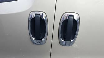 Окантовка дверной ручки (4 шт, нерж) - Peugeot Bipper 2008+ гг.