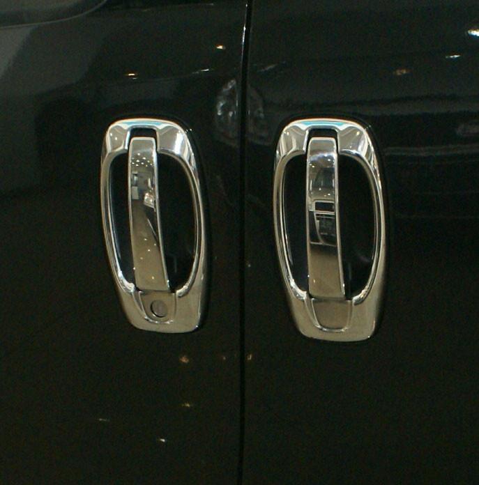 Накладки на ручки + окантовка (4 шт, нерж) - Peugeot Bipper 2008+ рр.