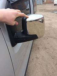 Накладки на зеркала верхушки (2 шт, нерж.) - Peugeot Bipper 2008+ гг.