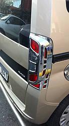 Накладка на стопы с изгибом (2 шт, пласт) - Peugeot Bipper 2008+ гг.