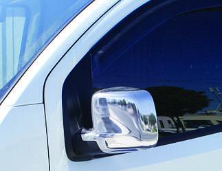 Накладки на зеркала полные (2 шт, нерж) - Peugeot Bipper 2008+ гг.