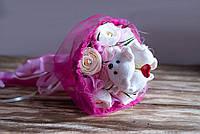 """Букет из плюшевых мишек и конфет """"Мишки с сердечком"""""""