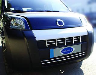 Накладка на решетку (15 част, нерж) - Peugeot Bipper 2008+ гг.