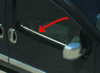Наружняя окантовка стекол (2 шт, нерж) - Peugeot Bipper 2008+ гг.