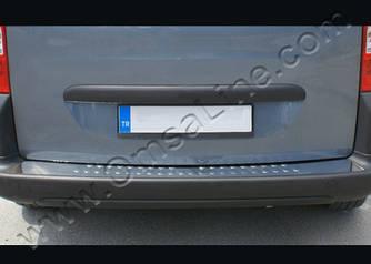 Накладки на задний бампер OmsaLine (нерж.) - Peugeot Bipper 2008+ гг.