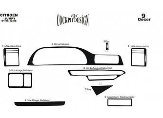 Накладки на панель (Meric) - Peugeot Expert 1996-2007 гг.