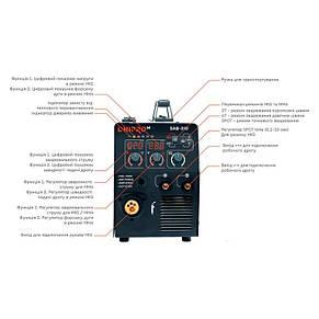Полуавтомат инверторный Dnipro-M Полуавтомат инверторный IGBT MIG/MMA SAB-310, фото 2