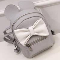 Женский, детский рюкзак Микки с ушками и бантиком