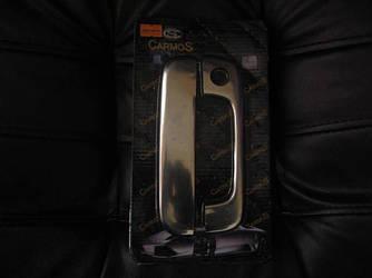 Накладки на заднюю ручку (1 дв, нерж) - Peugeot Partner 1996-2008 гг.
