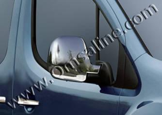 Накладки на зеркала (2 шт, пласт) - Peugeot Partner 1996-2008 гг.