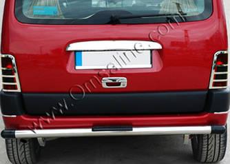 Накладка над номером (1 дв, нерж) - Peugeot Partner 1996-2008 гг.