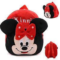 Детский рюкзак Микки маус, детские рюкзаки. Коллекция Дисней Минни (Minnie) красный