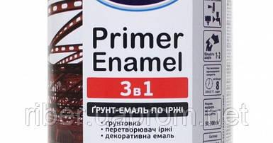 """Грунт-эмаль по ржавчине 3 в 1 ТМ """"Delfi"""",  темно-коричневая  (0,9 кг)"""