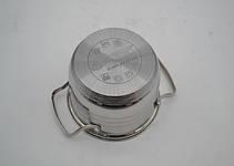 Набор кастрюль  нержавеющих BN-208 - 12 пр - Ковш 2.1Лтр и кастрюли 2.1 , 2.9 , 3.9 , 6.5 лтр., сковорода Ø24, фото 2