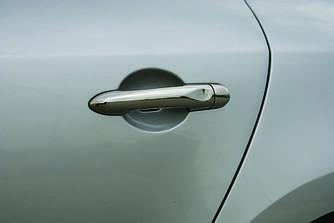 Накладки на ручки (4 шт., нерж.) - Renault Captur 2013+ гг.