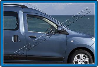 Окантовка стекол (2 шт, нерж.) - Renault Dokker 2013+ гг.