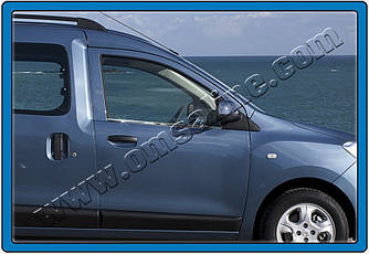 Окантовка вікон (2 шт., нерж.) - Renault Dokker 2013+ рр.