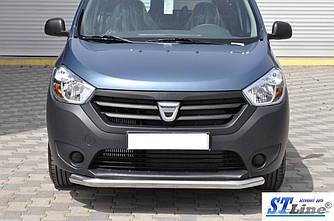 Передня захист ST008 (нерж.) - Renault Dokker 2013+ рр.