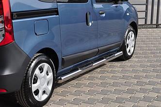 Бічні труби BB002 (2 шт., нерж.) - Renault Dokker 2013+ рр.