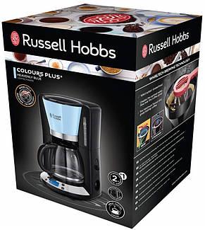 Кофеварка Russell Hobbs 24034-56 Colours Plus+, 1100 Вт, LCD-дисплей, Таймер на 24 часа, Голубой, фото 2