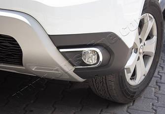 Накладки на противотуманки (2 шт, нерж) - Renault Duster (2018-2021)