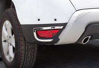 Накладки на задние рефлекторы 2 шт, нерж) - Renault Duster (2018-2021)