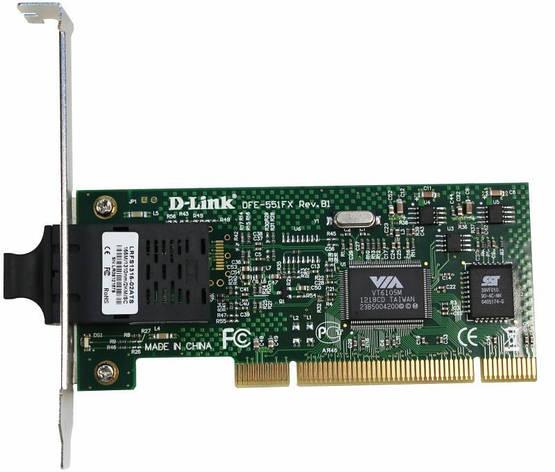 Сетевая карта D-Link DFE-551FX 1x100BaseFX, MM, PCI, фото 2