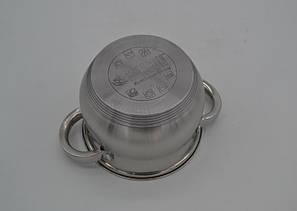 Набор кастрюль нержавеющих Benson BN-211-10 пр: Ковш 2.1Лтр и кастрюли 2.1 , 2.9 , 3.9 , 6.5 лтр. индукционные, фото 2
