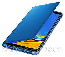 Чехол Samsung Wallet Cover для смартфона Galaxy A7 2018 (A750) Blue, фото 3