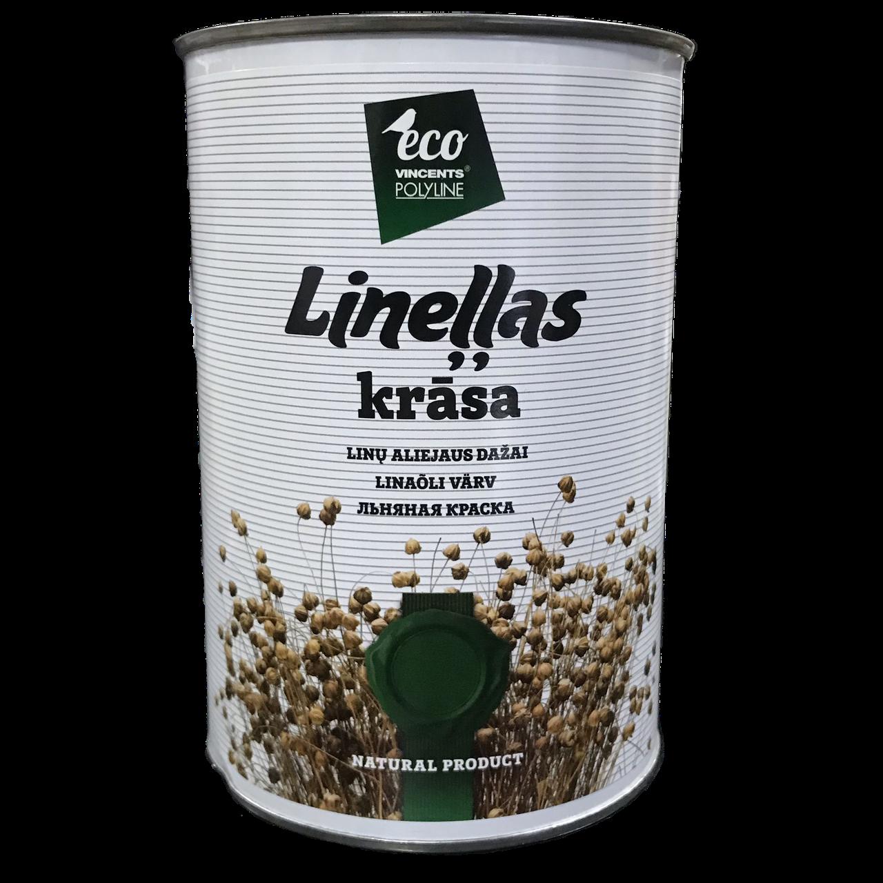 Фарба на основі лляної олії Vincents Polyline Linellas krasa 1л Лісовий горіх