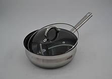 Набор кастрюль нержавеющих BN-212-12 пр: Ковш 2.1Лтр ,  Кастрюли 2.1 , 2.9 , 3.9 , 6.5 лтр. и сковорода Ø24, фото 3