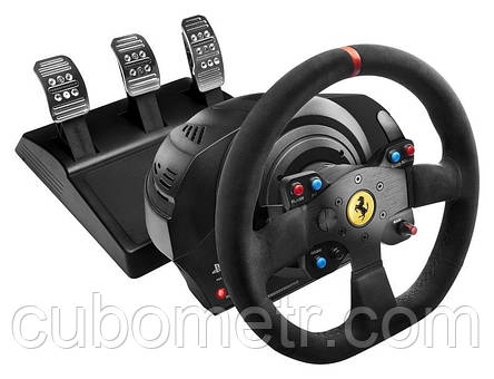 Руль  и  педали для  PC/PS4/PS3®Thrustmaster T300 Ferrari Integral RW Alcantara edition, фото 2
