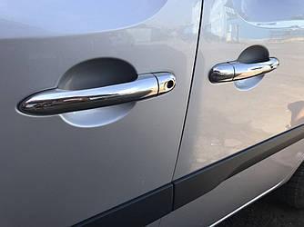 Накладки на ручки (4 шт, нерж) - Renault Kangoo 2008+ и 2013+ гг.
