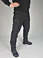 Брюки Софтшелл зимние для полиции черные, фото 1