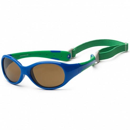 Детские солнцезащитные очки Koolsun зеленые серии Flex (Размер: 3+)