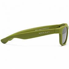 Детские солнцезащитные очки Koolsun цвета хаки серии Wave (Размер: 3+), фото 3
