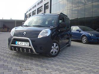 Кенгурятник WT003/004 (нерж.) - Renault Kangoo 2008+ и 2013+ гг.