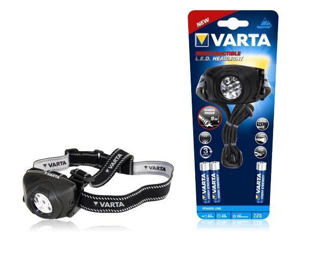 Фонарь VARTA Indestructible Head Light LED x5 3AAA