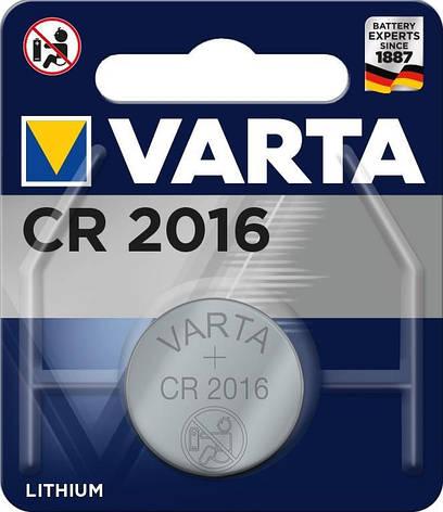 Батарейка VARTA CR 2016 BLI 1 LITHIUM, фото 2