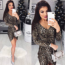 Платье с леопардовым принтом , фото 3