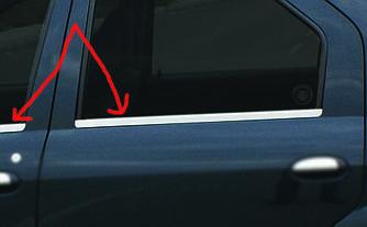 Наружняя окантовка стекол (4 шт, нерж.) - Renault Logan II 2008-2013 гг.