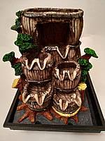 Домашний фонтан с подсветкой (дуб)