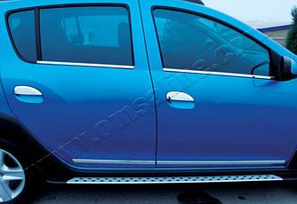 Накладки на ручки (4 шт., нерж.) - Renault Logan III 2013+ гг.