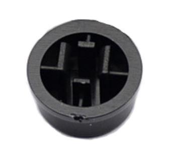 Колпачок круглый тактовой кнопки микрика 8 мм черный