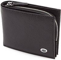 Мужской кошелёк из натуральной кожи  под купюры и карточки SТ