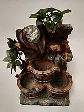 Фонтан настільний декоративний кімнатний з підсвічуванням (дерево з листям)