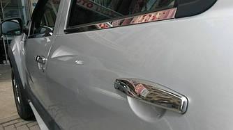 Накладки на ручки (4 шт., нерж.) - Renault Sandero 2007-2013 гг.